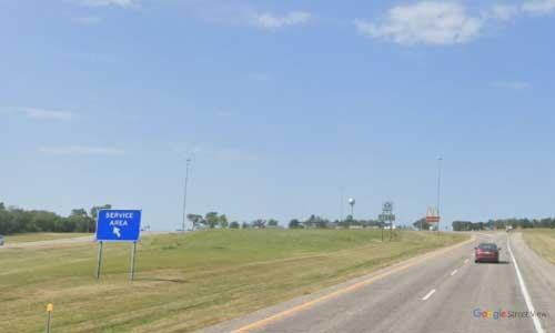 ks-interstate335 i335 i35 kansas emporia service plaza southbound mile marker 132