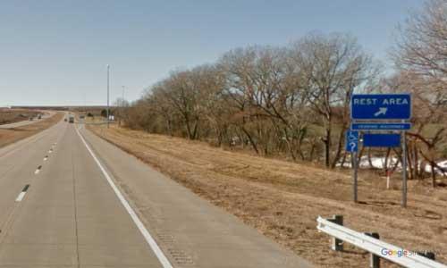 ks interstate70 i70 kansas ellworth rest area westbound mile marker 223