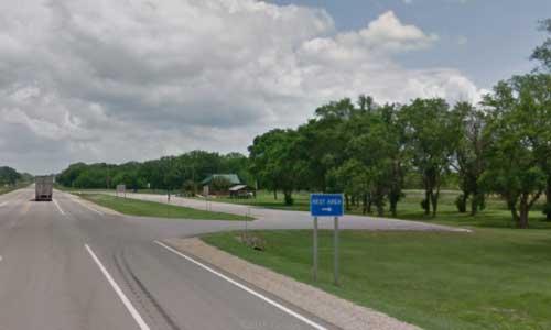 ks us route 54 us54 kansas woodson county rest area entrance